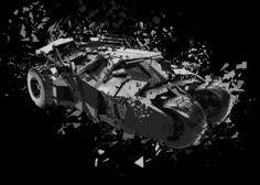 metal canvas Movies & TV batmobile the dark knight batman begins christian bale 2005 shatter