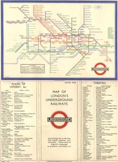 Harry Beck's Underground Map (1933) solved the problem of how to represent clearly and elegantly a dense, complex interweaving of train lines