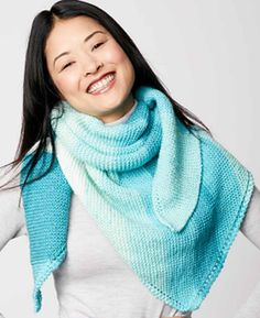Free Knitting Pattern for Garter Stitch Triangle Shawl - #ad Easy pattern suitable for beginners and perfect for multi-color yarn. tba