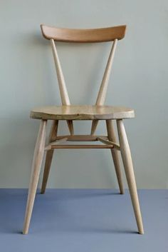 Margaret Howell Stacking Chair Designed in This is a Margaret Howell reissue in collaboration with Ercol. Made in England from American grey elm for the seat and the frame is european beech. H 770 x W 450 x D Ercol Dining Chairs, Ercol Chair, Ercol Furniture, Ikea Chair, Chair Cushions, Table And Chairs, Chair Design, Furniture Design, Stadium Chairs