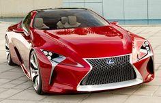 Lexus LF-LC coupe concept at the Detroit Auto Show