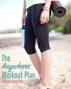 Lauren Conrad's Anywhere Workout Plan {pin this for the fall and winter months}