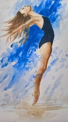 Ballet Dancer 3 Dance Paintings, Art Paintings For Sale, Ballet Images, Ballet Dancers, Online Gallery, Lovers Art, Buy Art, Watercolor Paintings, Ballerina