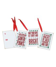 This Doggy Christmas Gift Tag Ornament Set is perfect! #zulilyfinds
