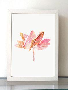 Lotus schilderij giclee print schilderij door Lemonillustrations