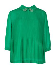 DIEMOS - Pleated top - Green | Womens | Ted Baker UK