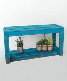 Love this Turquoise Entry Bench on #zulily! #zulilyfinds