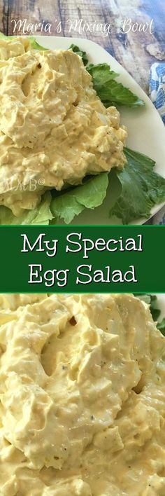 MY SPECIAL EGG SALAD - If your looking for a special egg salad, this is it!!So rich and creamy good. It really is SO delicious!