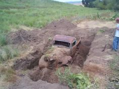 forgotten old trucks | Imagine finding a Truck burried on your property. It would be ...