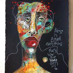 Abstract Face Art, Abstract Portrait, Portrait Art, Painting Portraits, Art Techniques, Collage Art, Creative Art, Watercolor Art, Cool Art