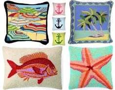 decorative coastal pillows