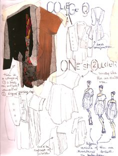 Fashion design sketchbook page