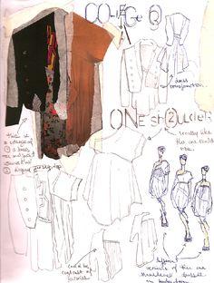 Fashion design sketchbook page