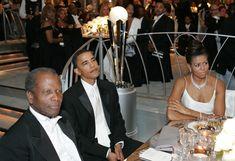 Mr & Mrs Barack & Michelle Obama & Sidney Poritie