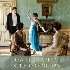 A complete paint color palette of Downton Abbey interiors that you can create in your own home. This website has all the colors. Www.charlesandhudson.com