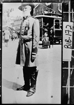 Macon, 1912. Warren A. Moseley in his Civil War uniform for reunion of Confederate veterans in Macon.