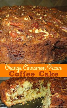Orange Cinnamon Pecan Filled Coffee Cake The post Orange Cinnamon Pecan Filled Coffee Cake appeared first on Dessert Platinum. Cinnamon Pecans, Cinnamon Coffee, Cinnamon Rolls, Breakfast Cake, Breakfast Recipes, Dessert Recipes, Breakfast Pastries, Sweet Desserts, Dinner Recipes