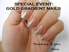 Special Event: Gold Gradient Nails - http://www.nailtech6.com/special-event-gold-gradient-nails/