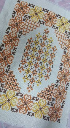 This Pin was discovered by Ρου Cross Stitch Letters, Beaded Cross Stitch, Cross Stitch Borders, Cross Stitch Flowers, Cross Stitch Designs, Cross Stitching, Cross Stitch Embroidery, Towel Embroidery, Embroidery Patterns
