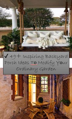 Inspiring Backyard Porch Ideas T? Modify Y? Decor Interior Design, Interior Decorating, Furniture Design, Home Decor Store, Diy Home Decor, Outdoor Retreat, Bedroom Paint Colors, Built Environment, Cozy Living