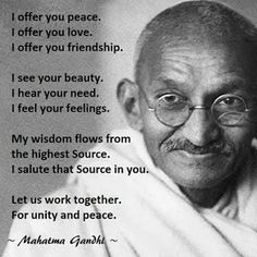 66 years ago Mahatma Gandhi was assassinated in Delhi, India. Although the three bullets ended his life, they didn't end Gandhi's message of peace and love for all of humanity. Famous Quotes, Me Quotes, Motivational Quotes, Inspirational Quotes, Peace Quotes, Strong Quotes, Attitude Quotes, Greatest Quotes, Quotes Positive