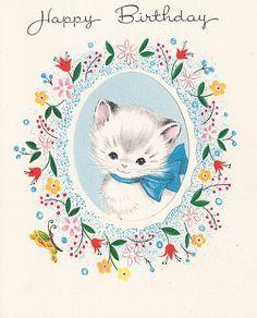 Vintage,Birthday Card by jerkingchicken, via Flickr