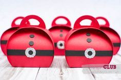 Stampin Up Christmas Weihnachten Curvy  Keepsakes Box Santa Thinlits Formen Zierschachtel für Andenken Nikolaus