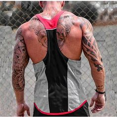 58bca1e4c Breathable O-Neck Patchwork Tank Top For Men Tee Cotton Solid Anime Fitness  Hip Hop Jersey Tank Tops