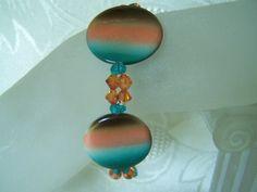 Beaded Shell and Swarovski Crystal by lindasoriginaljewels on Etsy, $20.00