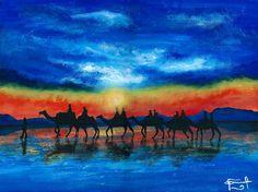 """CARAVANAS"" by Daniel Reynoso (Ankhsethamon). acrylic painting Painting, Art, Camper Van, Paintings, Manualidades, Art Background, Painting Art, Kunst, Performing Arts"