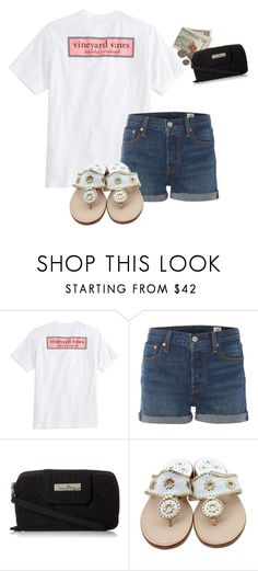 """Out shopping with my bestie :)"" by pretty-girl-prep ❤ liked on Polyvore featuring Vineyard Vines, Levi's, Vera Bradley and Jack Rogers"