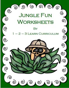I have added Jungle Fun worksheet to the 1 - 2 - 3 Learn Curriculum web site - under the Jungle Fun theme. Click on picture to subscribe for free downloads and to learn how to become a member of 1 - 2 - 3 Learn Curriculum.
