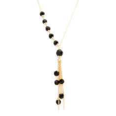 Elevate your ensemble with the classic elegance of the Madeleine necklace. You'll add a bit of vintage flair to your look, as Madeleine's asymmetrically strung tapered beads cascade towards a collection of beaded tassels. Easy and elegant, this sultry slip over piece is ready to wear and wow with that little black dress.  Find it on Splendor Designs