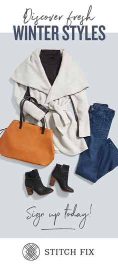 New winter arrivals are rolling in & we're ready to put together looks you're sure to love. Sign up for Stitch Fix and your Stylist will send the perfect pieces right to your doorstep. Fill out a quickie Style Profile online, set your budget & try on handpicked styles in your own home. Keep what you love and send the rest back. Free shipping & returns, always!