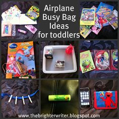 Airplane busy bag ideas for toddlers www.thebrighterwriter.blogspot.com