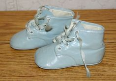 1950's Vintage Mrs Day's Ideal Baby Blue Shoes