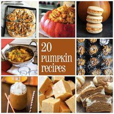 20 pumpkin recipes 20 Pumpkin Recipes