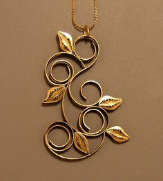 Quilled Pendant - Leaves and Loops, via Flickr
