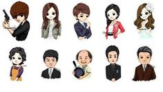 City Hunter. I don't know who bottom row 2nd to the right is :/
