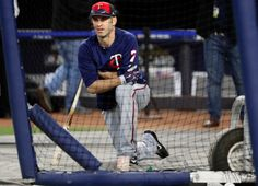 Wild Card Game, October 3, 2017: Minnesota Twins' Joe Mauer waits to take batting practice before the team's American League wild-card baseball game against the New York Yankees on Tuesday, Oct. 3, 2017, in New York. (AP Photo/Frank Franklin II)