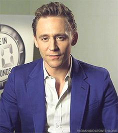 Tom Hiddleston gif- I find his charming, yet devilish looks a HUGE turn on...