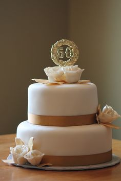 Wonderful 50th Wedding Anniversary cake!