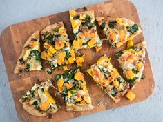 A seasonal butternut squash pizza is perfect for fall. With sage and crispy kale, this homemade pizza is an excellent vegetarian option.