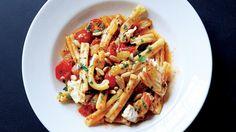 Pasta with Swordfish and Cherry Tomato Sauce   Bon Appetit Recipe