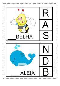 Educação infantil facil: JOGO DA LETRA INICIAL First Grade, Professor, Homeschool, Education, Kids, Extracurricular Activity, Alphabet Games, Therapy, Aphasia