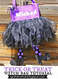 Make a Wicked Witch Trick or Treat Bag via Dollar Store Crafts