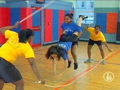 Once you've mastered the basics of Double Dutch you can start to build routines with your team. Stan's Pepper Steppers will show you how to get started.