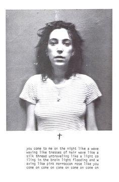 "Patti Smith,  ""Rock n Rimbaud III"" program, at the Blue Hawaiian Discotheque, NYC November, 1974."