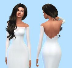 - Satin Wedding Gowns (The Sims Maxis, Sims 4 Wedding Dress, Wedding Gowns, Mod Wedding, Sims 4 Mm Cc, Sims Four, The Sims 4 Cabelos, Sims4 Clothes, Sims 4 Dresses
