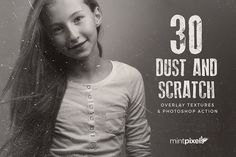 30 Dust and Scratch Overlay Textures by Mint Pixels on @creativemarket